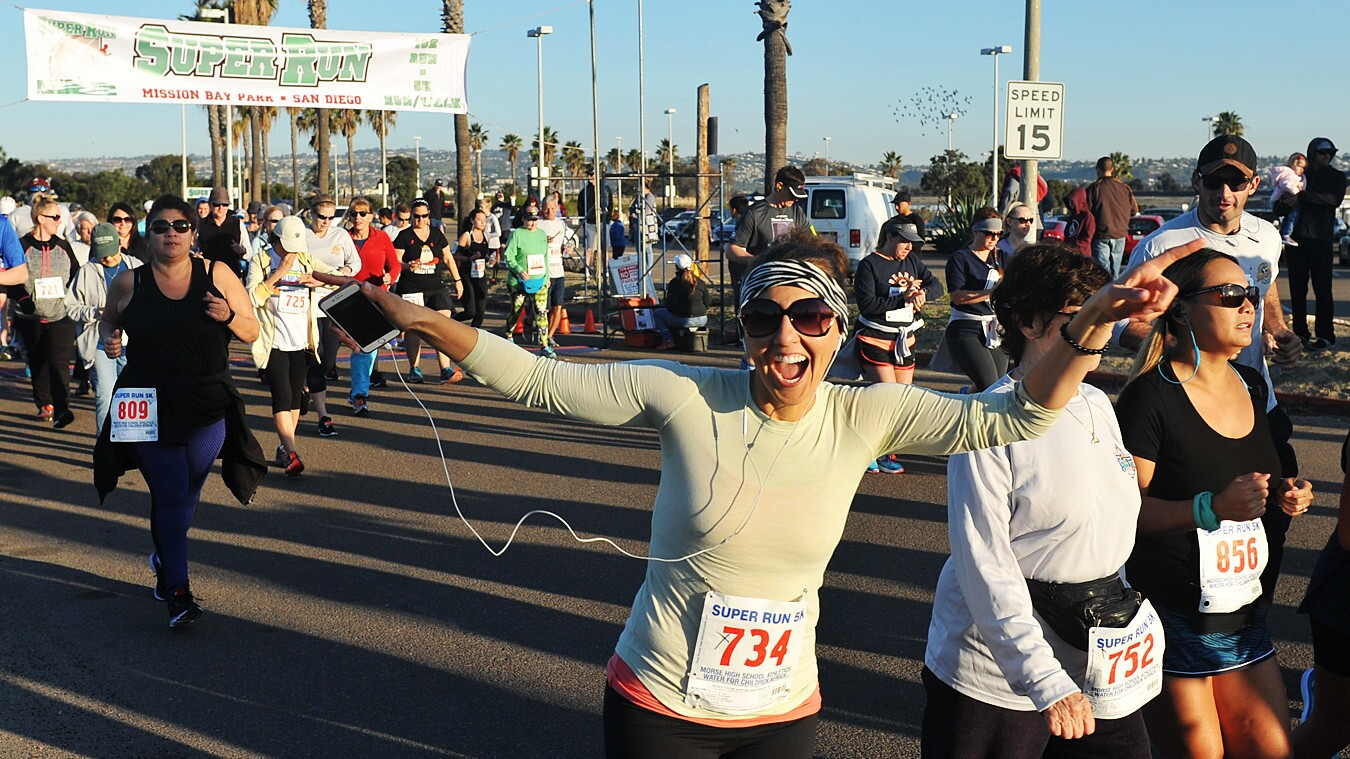 San Diegans prepared for the Big Game by participating in the San Diego Super Run 10K & 5K at South Shores Park on Saturday, Feb. 3, 2018.