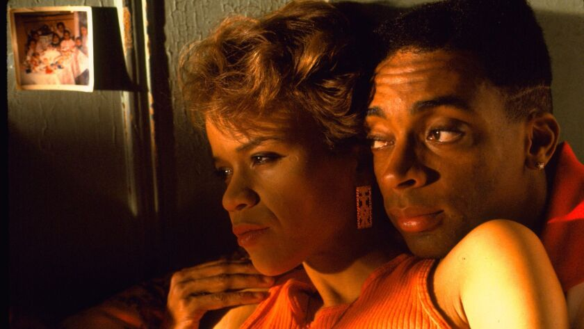 """Rosie Perez and Spike Lee in the 1989 movie """"Do the Right Thing."""""""