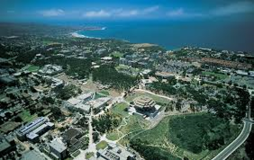 Aerial view of UC San Diego