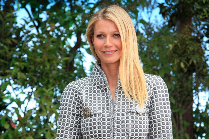 Gwyneth Paltrow in January at the showing of Chanel's spring-summer 2016 haute couture collection in Paris.