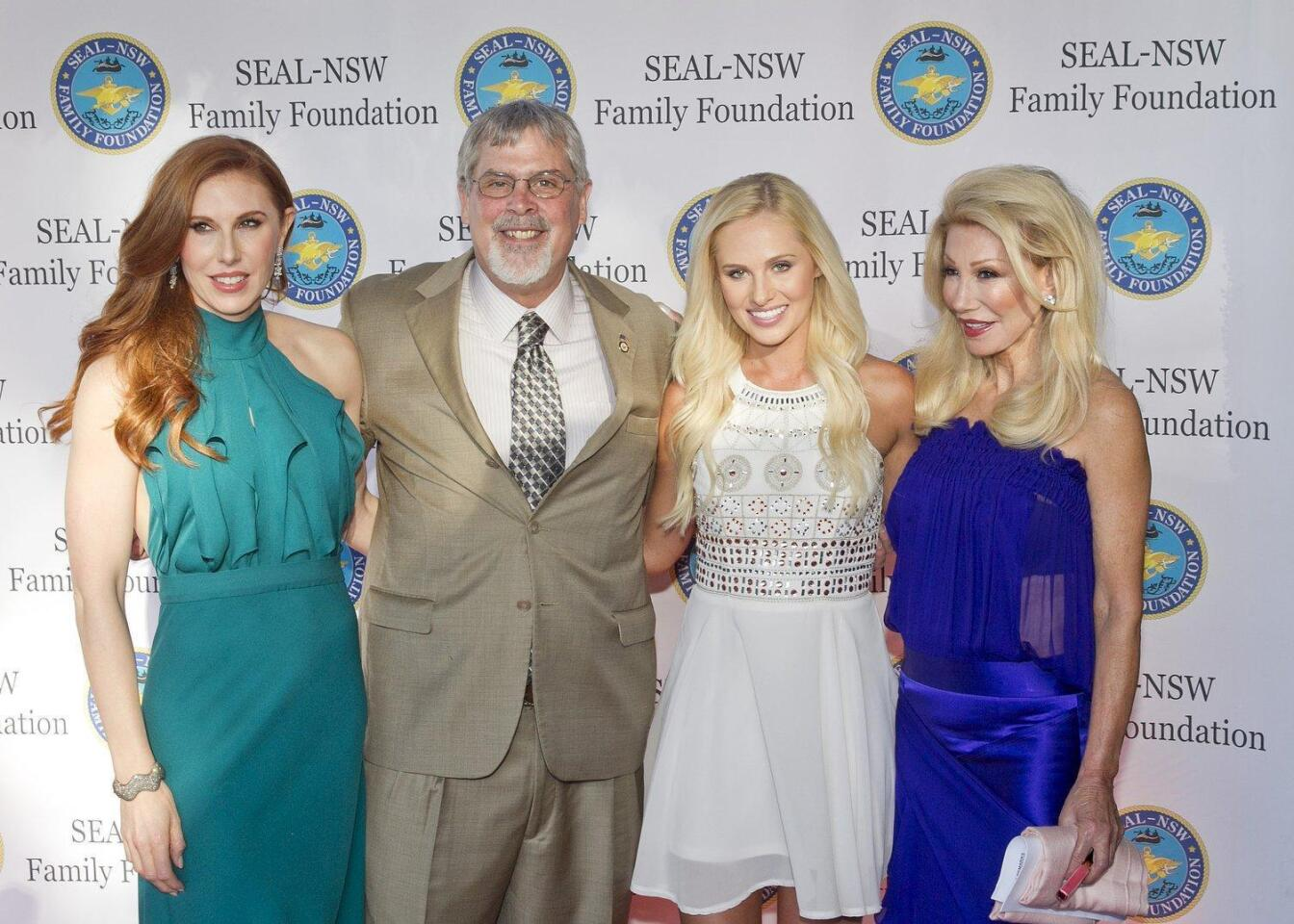 Dominique Plewes, guest speakers Capt. Richard Phillips and Tomi Lahren, Madeleine Pickens