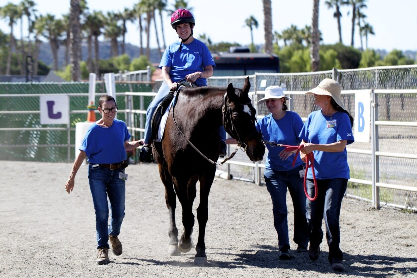 A therapeutic riding show is Nov. 19 at Helen Woodward Animal Center in Rancho Santa Fe.
