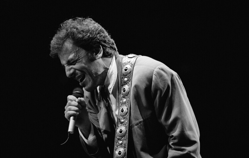 Bruce Springsteen performs at Madison Square Garden in New York on May 19, 1988. Less than two months later, he would shine in a historic performance in East Germany.