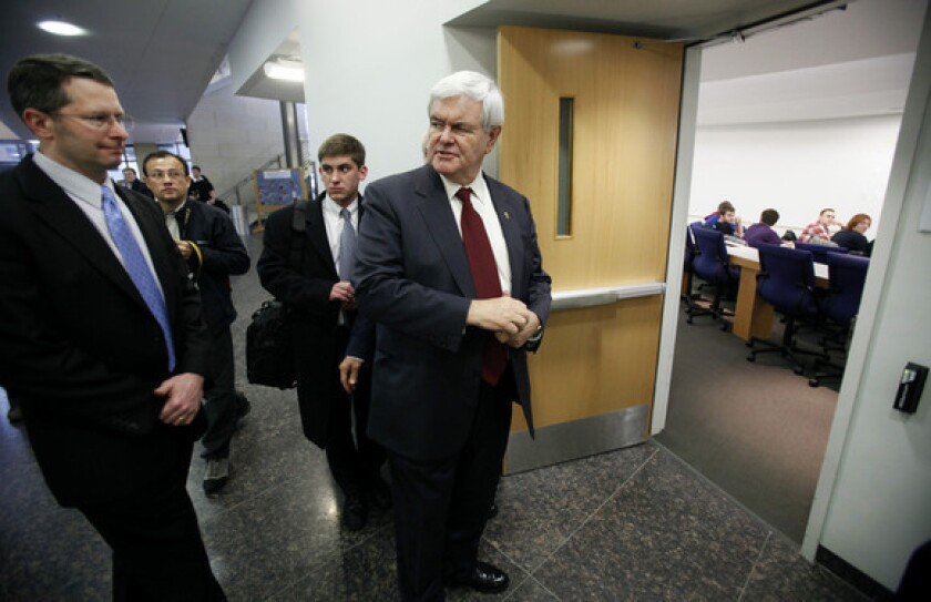 Former House Speaker Newt Gingrich has praised Donald Trump's candidacy thr