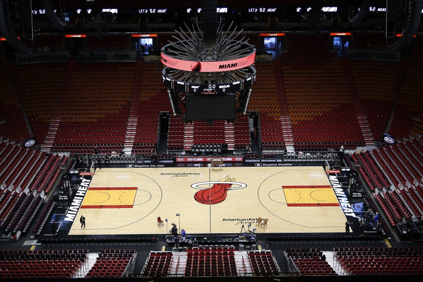 Miami Heat's home basketball court.