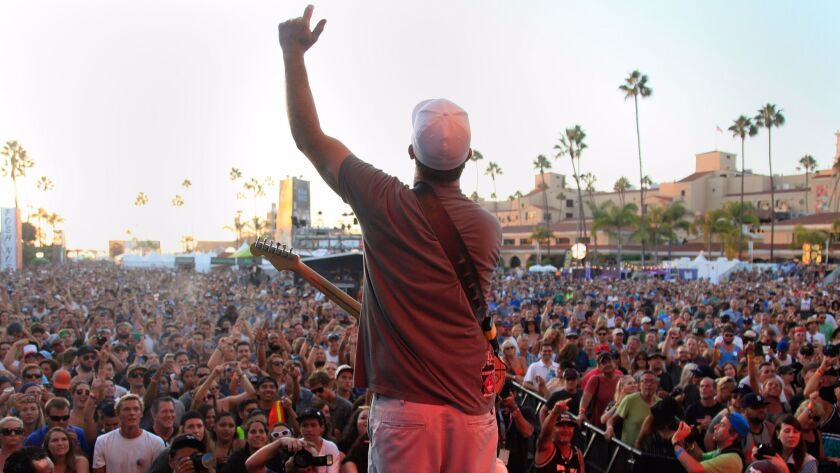 Miles Doughty of Slightly Stoopid pumps up crowd at the Grandview stage at day two of KAABOO Del Mar.