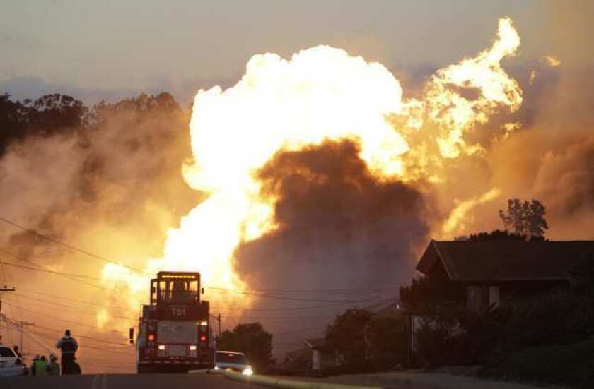 Natural gas pipeline explosion in San Bruno, Calif.