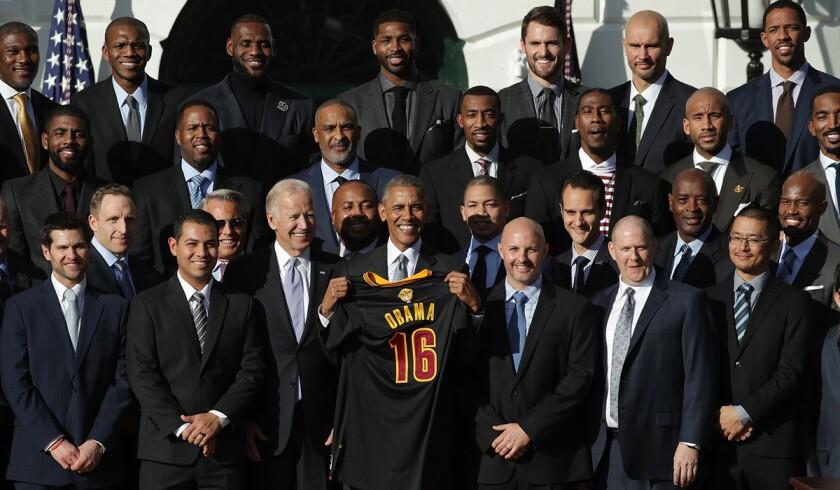 Barack Obama, Joe Biden, Cleveland Cavaliers