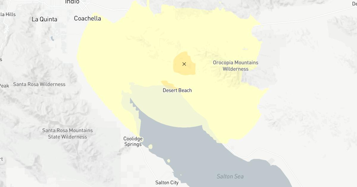 Erdbeben: 3.5 Beben in der Nähe von Coachella