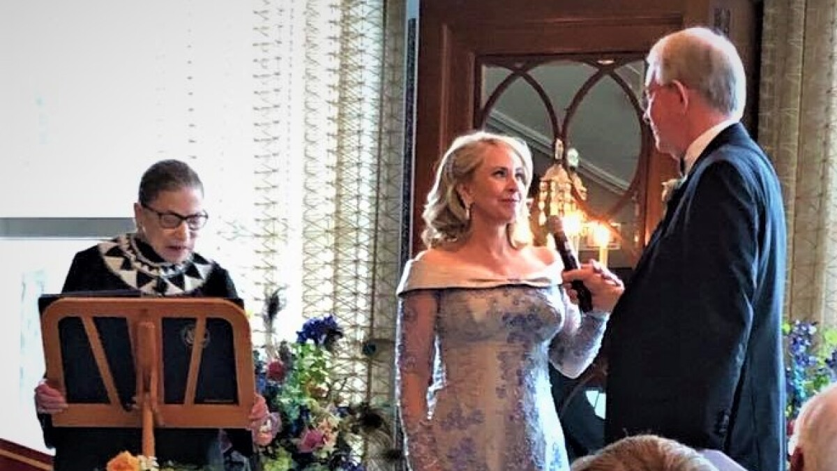 Column U S Supreme Court Justice Ruth Bader Ginsburg Officiates At Wedding Of La Jolla Music Society Head The San Diego Union Tribune