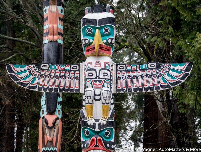 Totem poles in Vancouver's Stanley Park