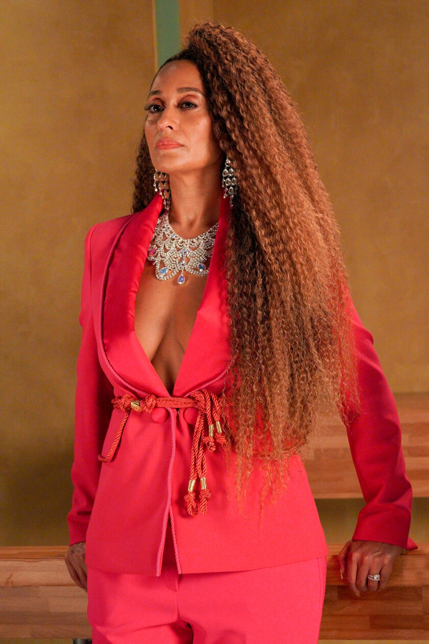 "Tracee Ellis Ross, paying homage to Beyoncé, in ""black-ish."""