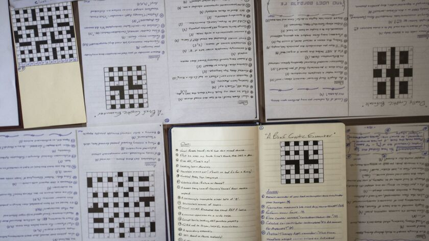 Michael Whyte, 23, of Huntington Beach has competed five cryptic crossword puzzles after following t