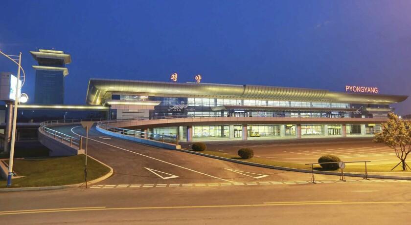 New terminal of Pyongyang airport