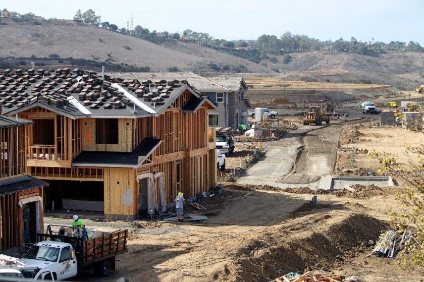 The Quarry Creek housing development takes shape in Carlsbad.