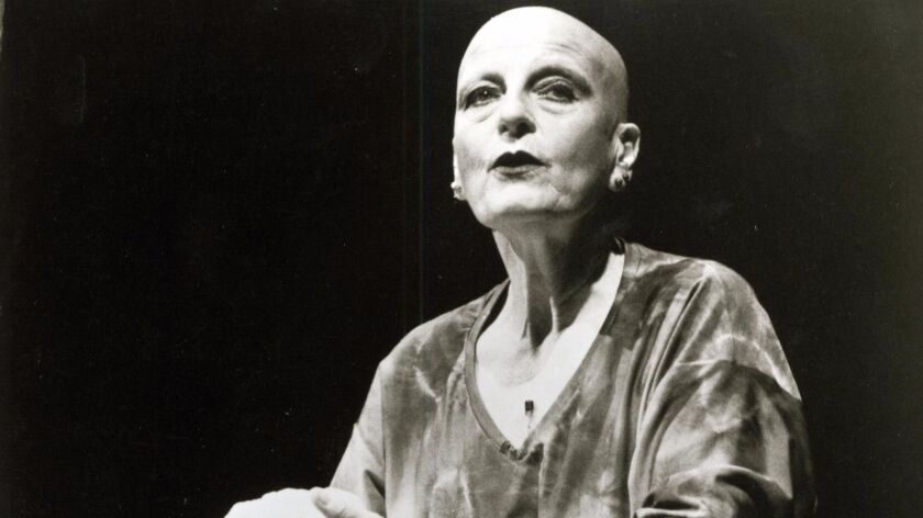 Rachel Rosenthal in performance.