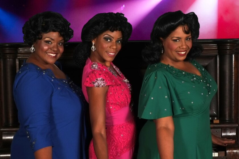"""Amber Mercomes, (from left) Jenelle Randall and Sylvia MacCalla in """"Ain't Misbehavin.'"""""""