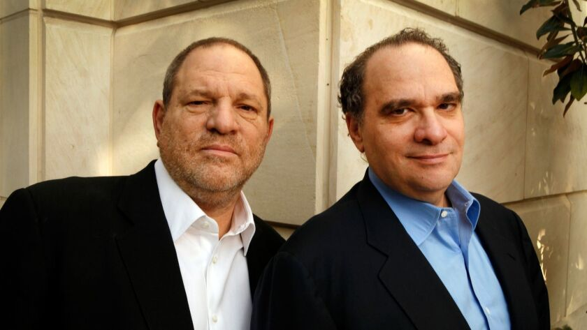 Harvey, left, and Bob Weinstein in Beverly Hills in 2012.