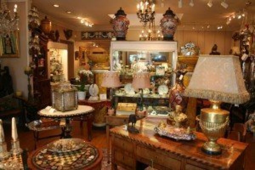 The McNally Company Antiques in its new location in the village. Photo by Karen Billing