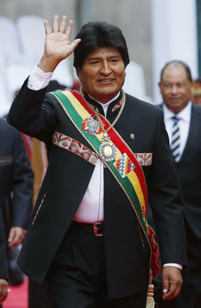 El presidente boliviano Evo Morales. (Foto AP/Juan Karita)