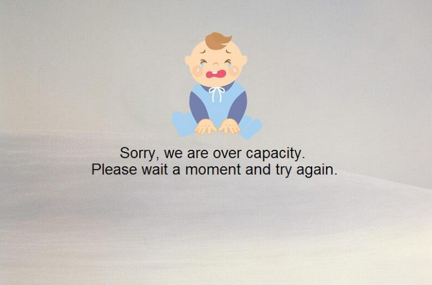 Users affected by Yahoo Mail's latest outage were met by an error message featuring a crying baby.