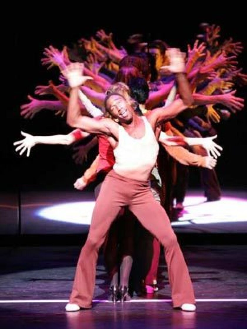 'A CHORUS LINE': Anthony Wayne performs with the cast of 'A Chorus Line.'