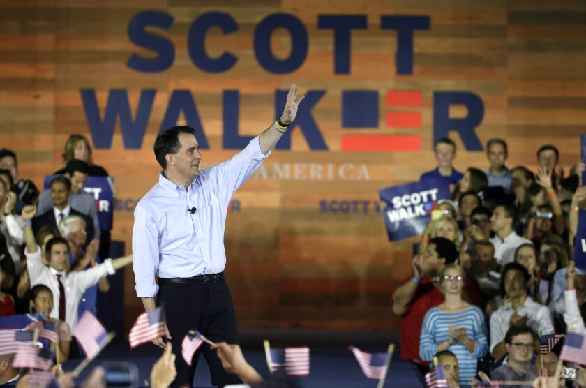 Wisconsin Gov. Scott Walker announced Monday in Waukesha, Wis., that he is running for the 2016 Republican presidential nomination.