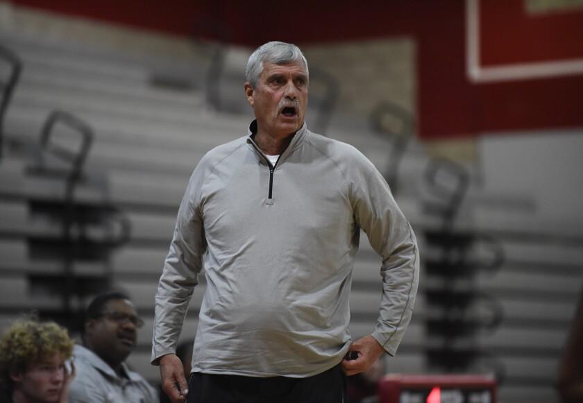Helix head coach John Singer