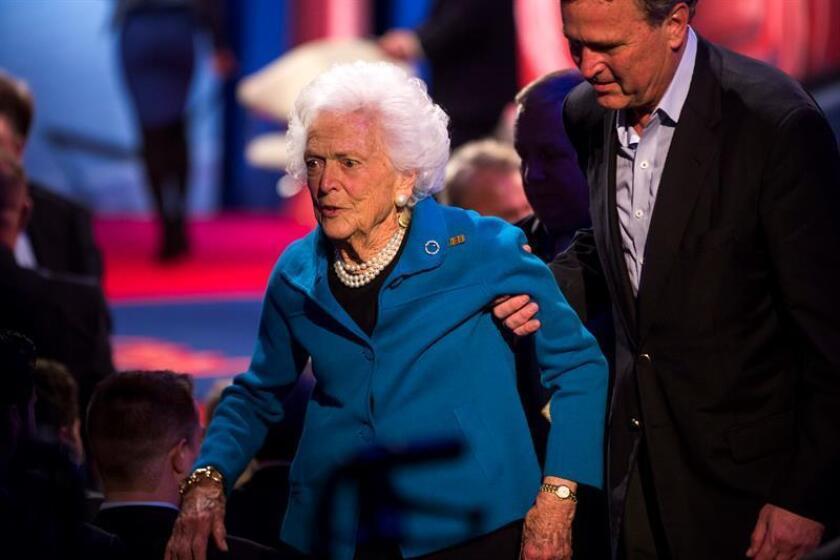 ex primera dama de EE.UU. Barbara Bush. EFE/Archivo