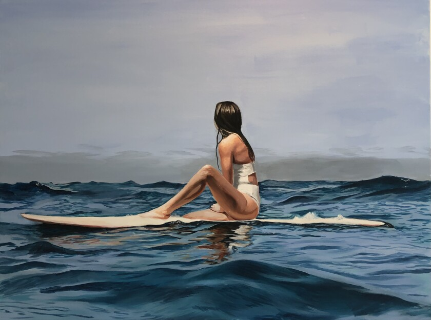 Art by Jessica Justus will be featured in Leucadia 101 Mainstreet spring art auction.