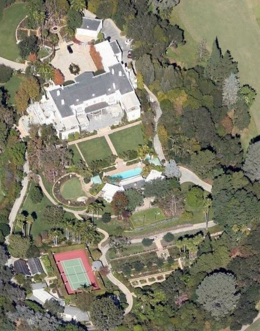 The 2000 sale of the 8.4-acre knoll and mansion in Bel-Air long held the distinction of being the highest-priced home sale statewide.