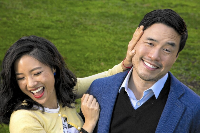 """Constance Wu and Randall Park of the new sitcom """"Fresh Off The Boat."""""""