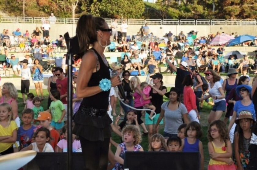 The Summer Serenades free concerts are held at the Carmel Valley Rec Center in San Diego. Courtesy photo