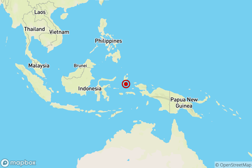 Earthquake: 7.3 quake strikes near Sofifi, Indonesia