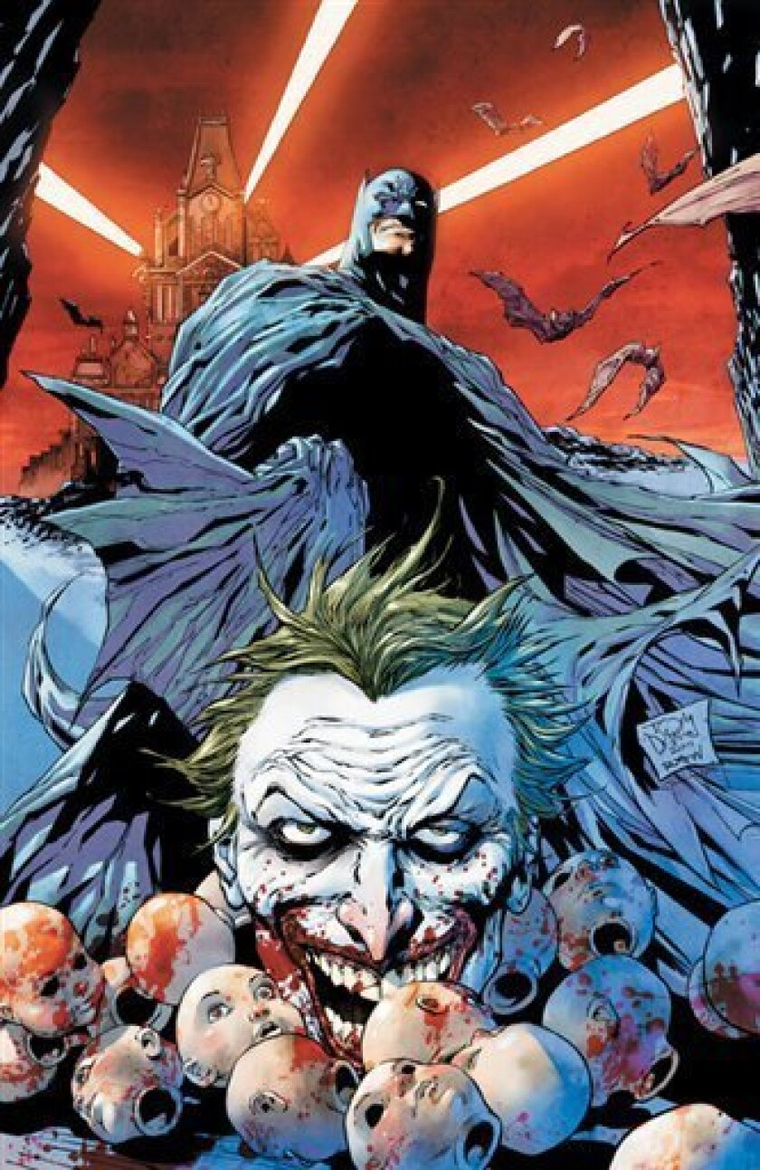 In this comic book image released by DC Comics, the cover of the new Detective Comics No. 1, featuring Batman, is shown. The issue, available in September, is part of DC Comics company wide push to renumber all of its superhero titles and give the characters new looks. (AP Photo/DC Comics)