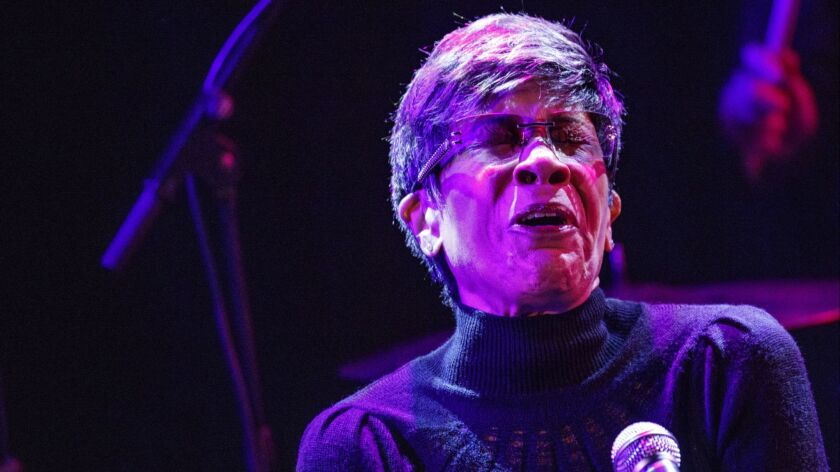 """Soul-R&B singer Bettye Lavette sang John Prine's """"Souvenirs,"""" a song she first recorded in 1972, during Saturday's Americana tribute to the veteran singer-songwriter in West Hollywood"""