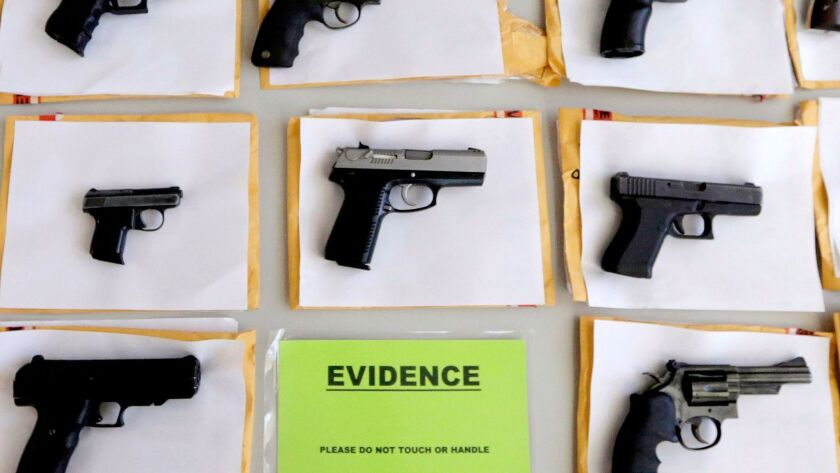 Thousands of illegal firearms were confiscated by Chicago police in 2014. In the past two years, sharp homicide increases in Chicago and other places have been large enough to raise the rate for gun deaths in the U.S.