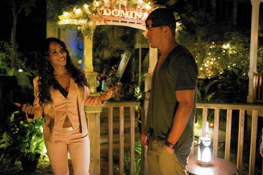 "Jada Pinkett Smith and Channing Tatum in ""Magic Mike XXL"""