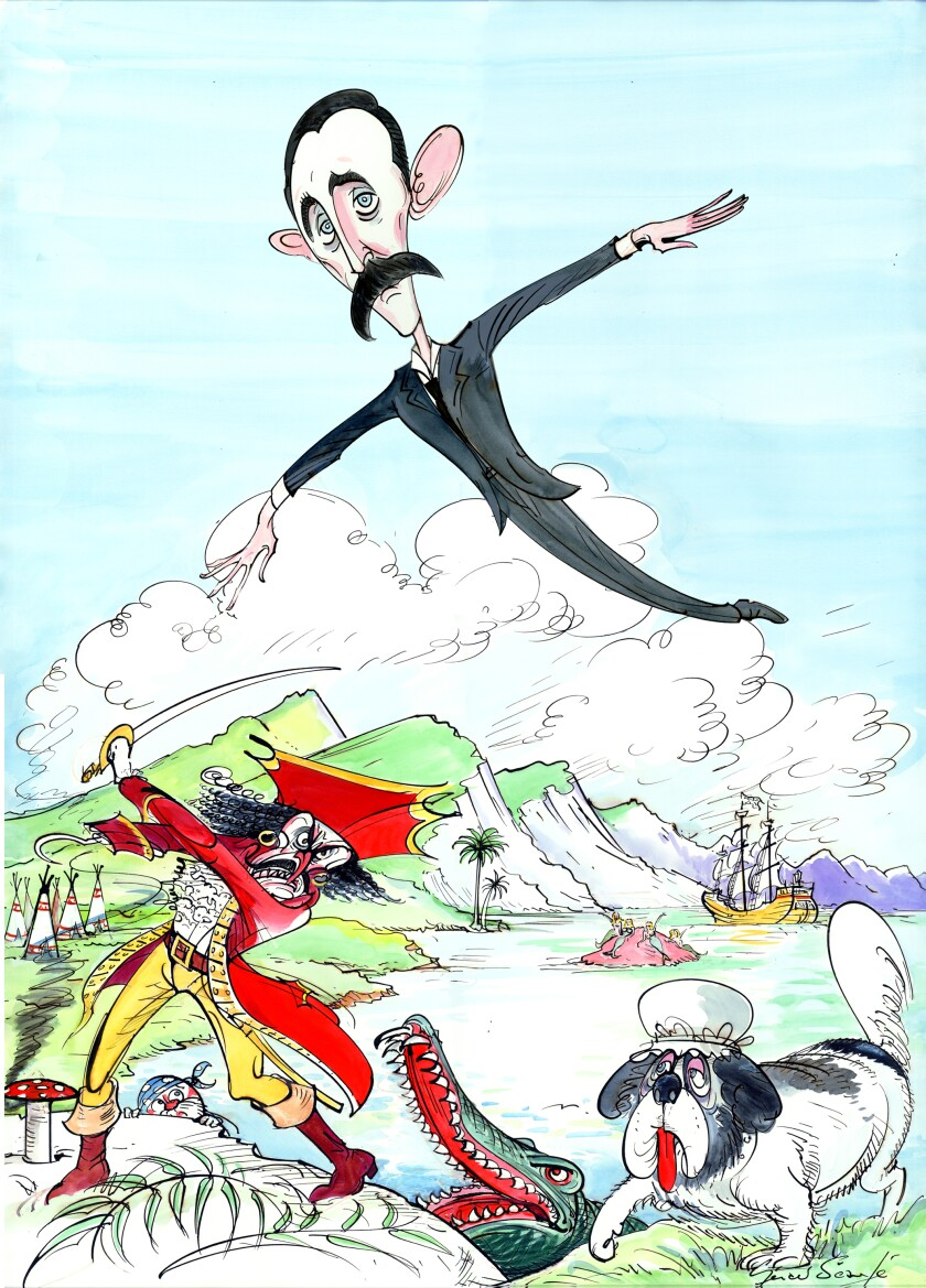 """Whelan said themes in """"Peter Pan,"""" captured in a Gerald Scarfe cartoon from the New Yorker, relate to PANDAS."""