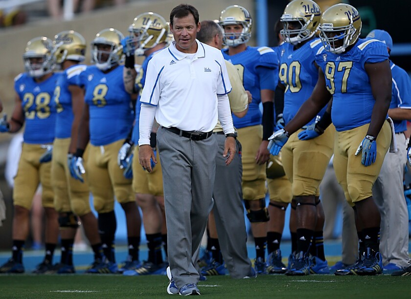 UCLA Coach Jim Mora says he isn't taking anything for granted with the Bruins' resurgence.