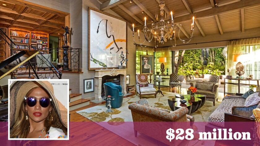 Actress Sela Ward has sold her estate in Bel-Air to singer Jennifer Lopez for $28 million.