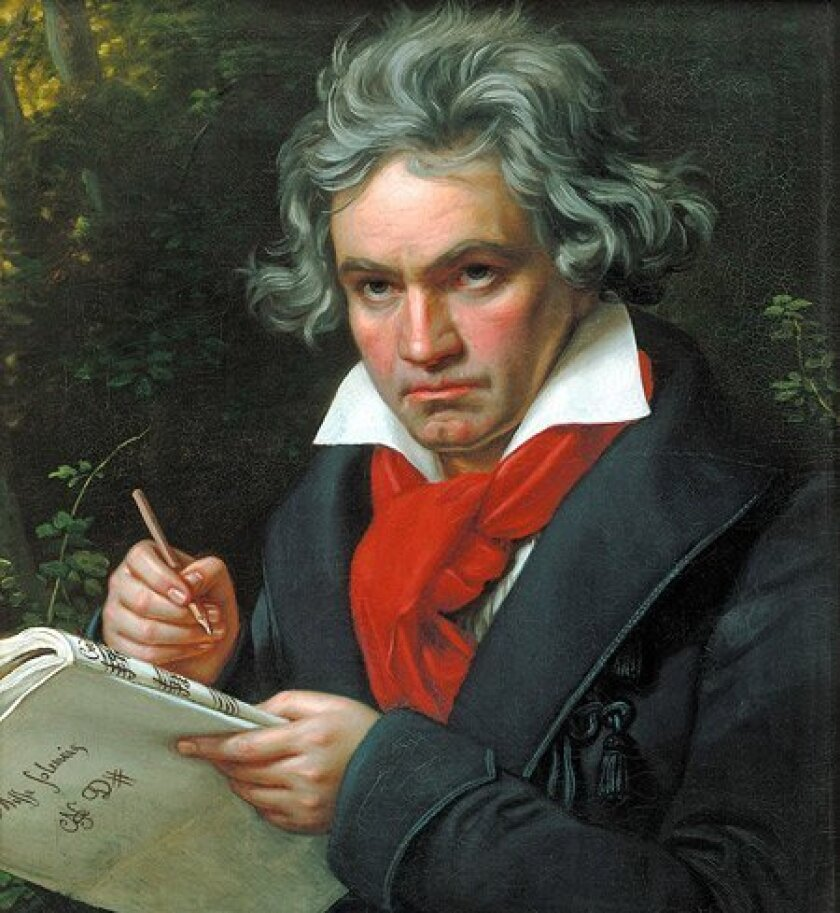 "The music of Ludwig Van Beethoven has been sampled on a hit record by hip-hop star Nas, adapted for a disco chart-topper in 1976 and provided the basis for songs by such diverse artists as Billy Joel and Bright Eyes' Conner Oberst. The San Diego Symphony will this month perform 10 concerts of the fabled German composer's works as part of its season-long ""Beethoven at 250"" concert series."