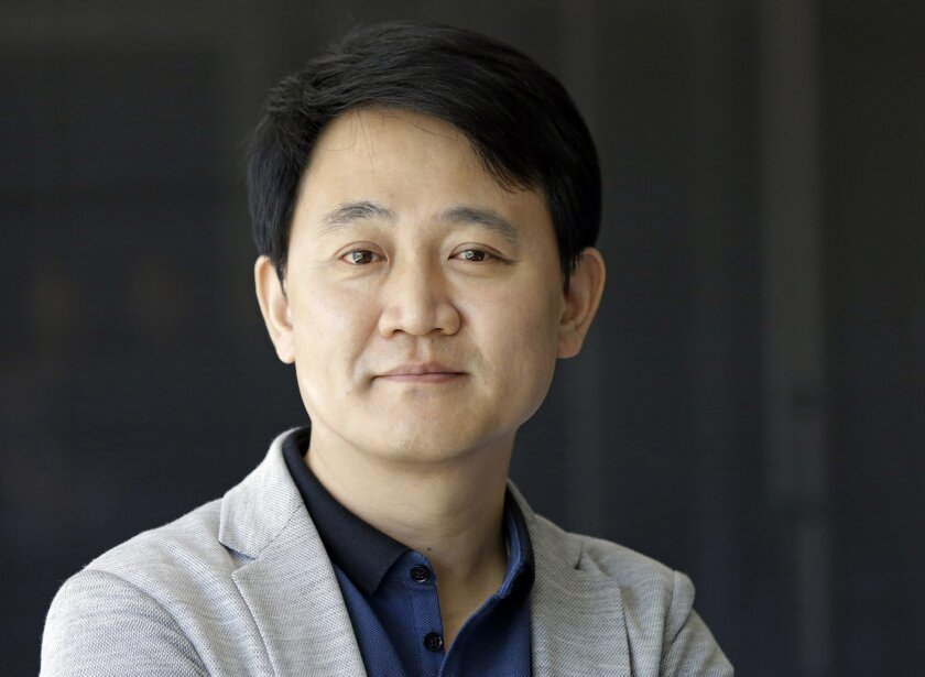 """This June 16, 2016 photo shows NetMarble chairman and founder Jun Hyuk Bang in Los Angeles. Bang founded Netmarble Games in 2000 and has grown it into a powerhouse mobile gaming company with nearly $1 billion in annual revenue. Its game, """"Seven Knights,"""" has broken into Japan's list of top 10 mobil"""