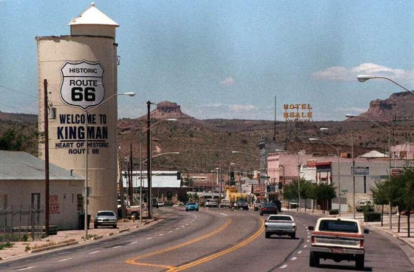 Kingman, Ariz., in Mohave County, where 73% of the vote went to President Trump in the 2016 election.