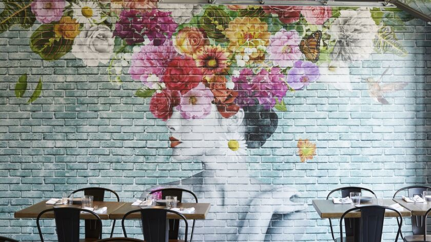 A mural of Frida Kahlo at the Pacific Hideaway restaurant in Huntington Beach is one of the designated selfie spots from Kimpton Hotels.