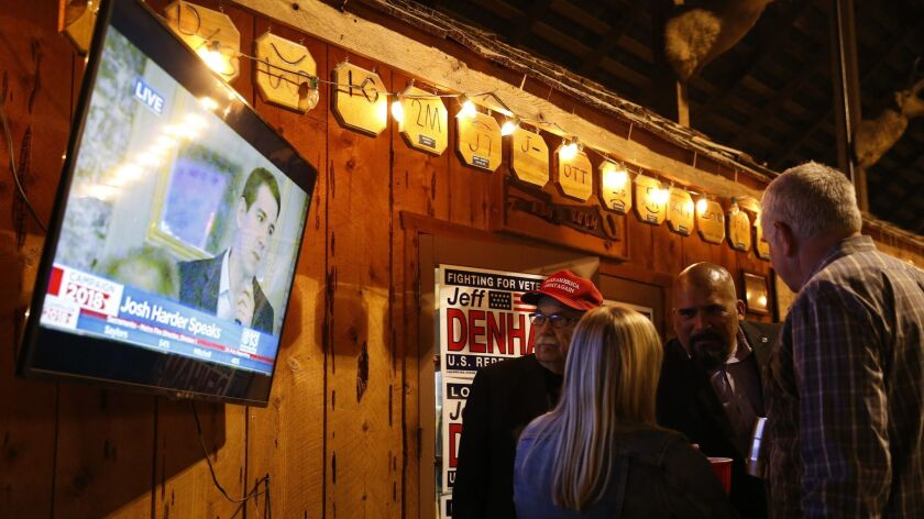 Congressional Candidate Jeff Denham Holds Election Night Event In Modesto