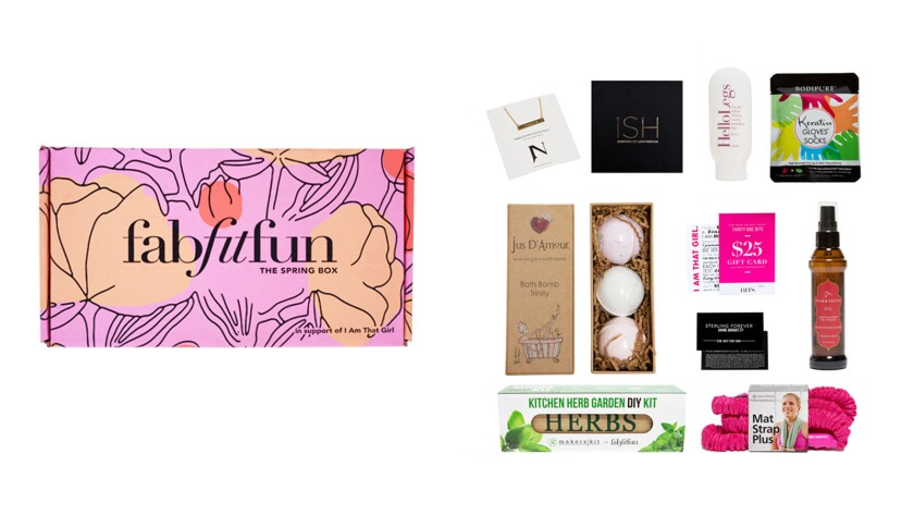 FabFitFun subscription box.