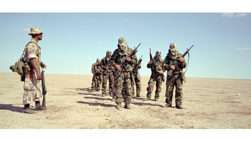 """A still from """"Jarhead,"""" based on the book by Anthony Swofford."""