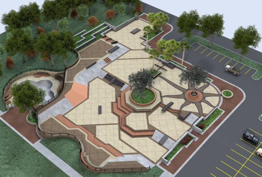 Plans for a new skatepark in Encinitas, which Kanten Russell helped design.