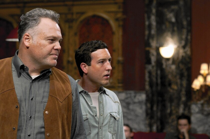 "Vincent D'Onofrio plays Hench, a psychotic crime boss who's a sort of father figure to Chris Marquette's character Buddy, in ""Broken Horses."""